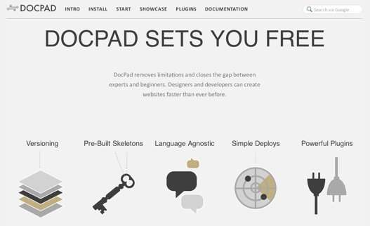 docpad home page